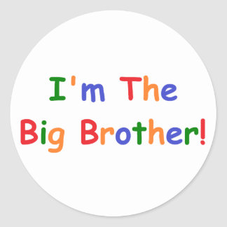 Soy el hermano mayor pegatina redonda