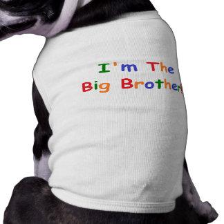 Soy el hermano mayor playera sin mangas para perro