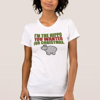 Soy el hipopótamo que usted quiso para el navidad playera