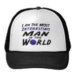 Soy el hombre intersting lo más del mundo gorras de camionero