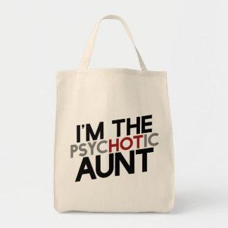 Soy el humor caliente de la tía de la tía bolsa tela para la compra