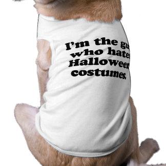 Soy el individuo que odia los disfraces de Hallowe Camisas De Mascota