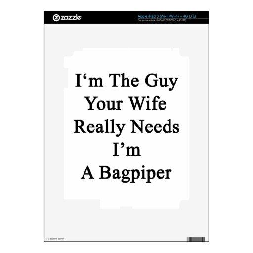 Soy el individuo sus necesidades de la esposa real iPad 3 pegatinas skins