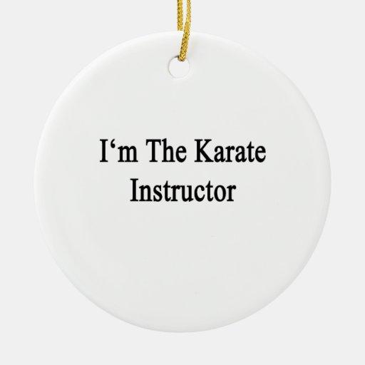 Soy el instructor del karate adorno redondo de cerámica