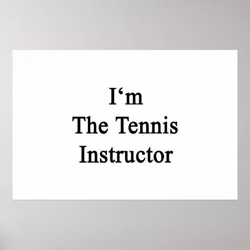 Soy el instructor del tenis impresiones