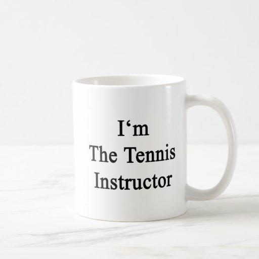 Soy el instructor del tenis taza básica blanca