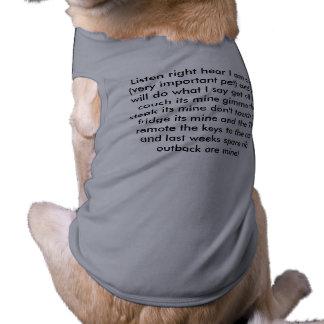 Soy el jefe ropa perro