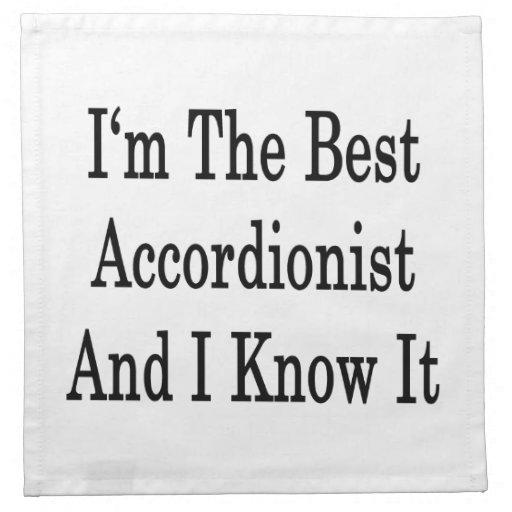 Soy el mejor acordeonista y lo sé servilleta imprimida