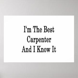 Soy el mejor carpintero y lo sé poster