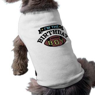 Soy el muchacho del cumpleaños playera sin mangas para perro