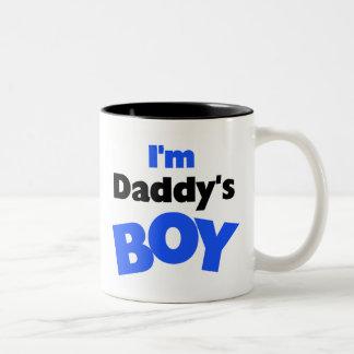 Soy el muchacho del papá taza de café de dos colores