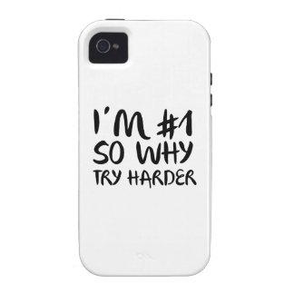 Soy el número 1 tan porqué intento más difícilment iPhone 4 carcasas