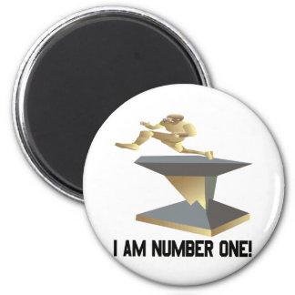 Soy el número uno imán redondo 5 cm