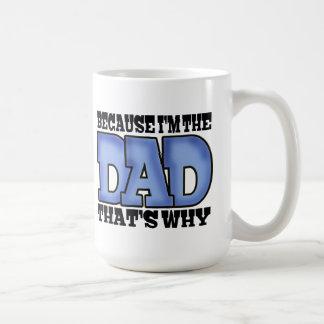 Soy el papá taza básica blanca