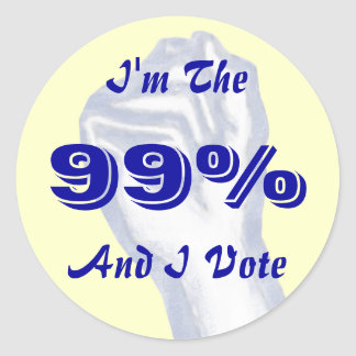 Soy el pegatina del 99 y yo vote