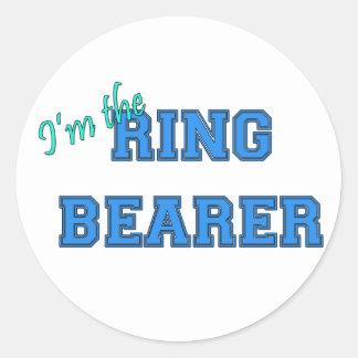 Soy el portador de anillo pegatina redonda