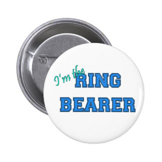 Soy el portador de anillo pin redondo 5 cm