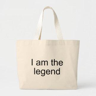 Soy el producto del funcionario de la leyenda bolsa tela grande