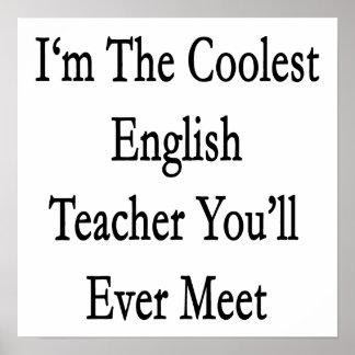 Soy el profesor de inglés más fresco que usted se  poster
