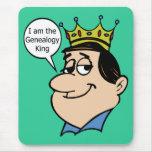 Soy el rey de la genealogía alfombrilla de ratón