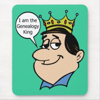 Soy el rey de la genealogía alfombrillas de ratón