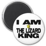Soy el rey del lagarto imán de frigorífico