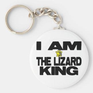 Soy el rey del lagarto llavero redondo tipo pin
