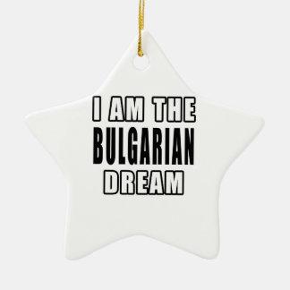 Soy el sueño búlgaro adorno de cerámica en forma de estrella