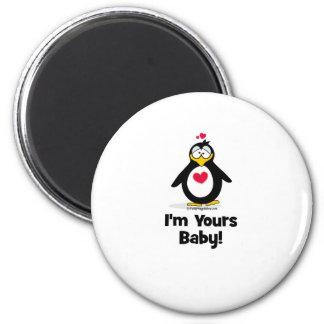 Soy el suyo bebé imán redondo 5 cm