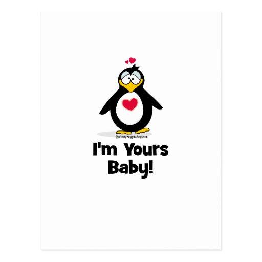 Soy el suyo bebé tarjetas postales