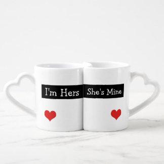 Soy el suyo que ella es la mía casa nuevamente el taza para enamorados