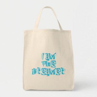 Soy el tote orgánico del ultramarinos del soñador bolsa tela para la compra