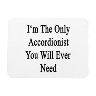 Soy el único acordeonista que usted necesitará imán rectangular