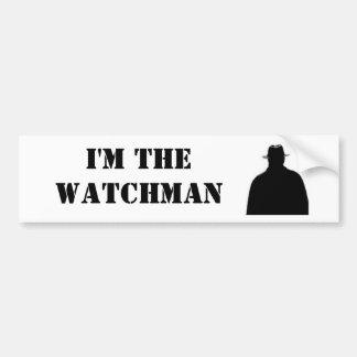 Soy el vigilante etiqueta de parachoque