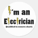 Soy electricista calificado quitar la perforación pegatinas redondas
