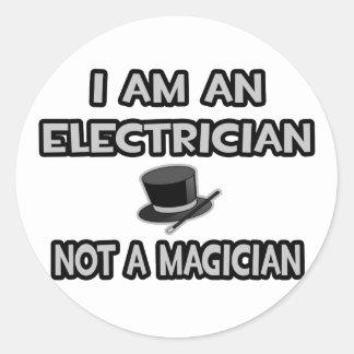 Soy electricista… no un mago pegatina redonda