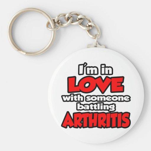 Soy en amor con alguien artritis de lucha llavero redondo tipo pin