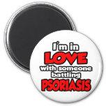Soy en amor con alguien psoriasis de lucha imán de nevera