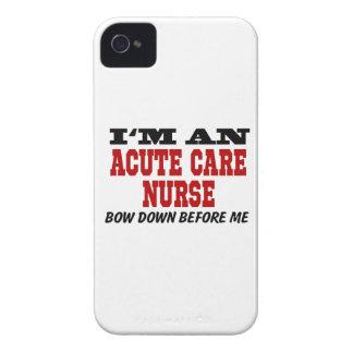 Soy enfermera aguda del cuidado arqueo abajo antes funda para iPhone 4 de Case-Mate