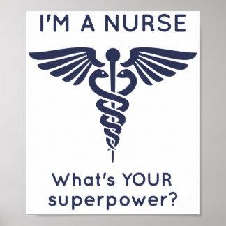 ¿Soy enfermera cuál es SU superpotencia? Póster