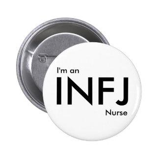 Soy enfermera de INFJ - tipo de personalidad Pin Redondo De 2 Pulgadas