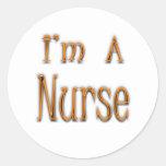 Soy enfermera etiqueta redonda