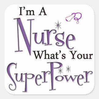 Soy enfermera pegatina cuadrada