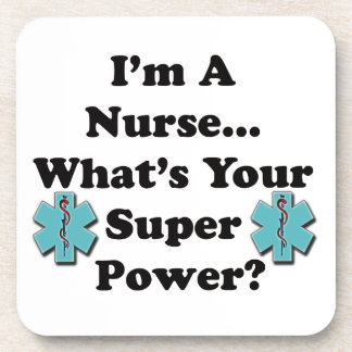 Soy enfermera posavasos de bebida