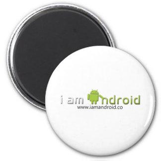 Soy engranaje androide imán redondo 5 cm