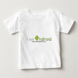 Soy engranaje androide playera de bebé