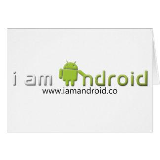 Soy engranaje androide tarjeta de felicitación