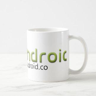 Soy engranaje androide taza de café