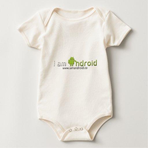 Soy engranaje androide traje de bebé