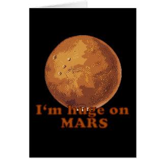 Soy enorme en el humor de Marte Martian Tarjeta De Felicitación